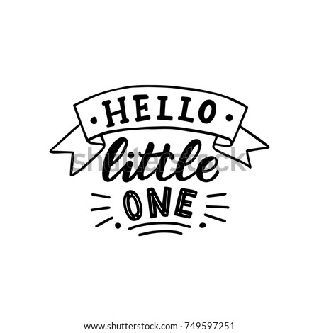 hand drawn lettering hello