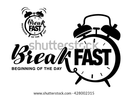 Hand drawn lettering on the topic breakfast