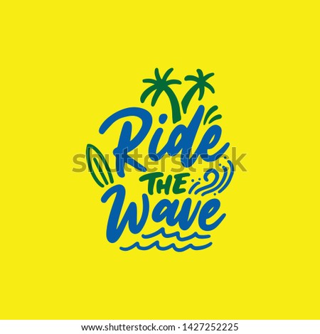 hand drawn lettering surf