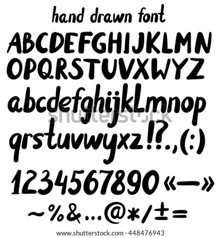 hand drawn letters  punctuation