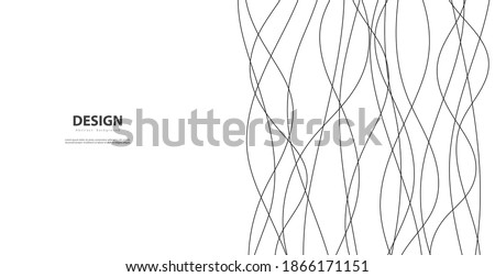 Hand drawn lines. Abstract pattern wave simple seamless, smooth pattern, web design, greeting card, textile, Technology background, Eps 10 vector illustration