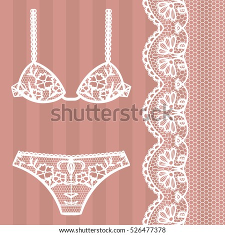 hand drawn lingerie panty and
