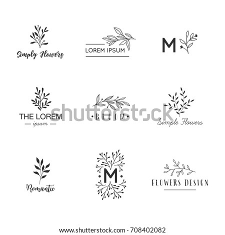hand drawn logo collection