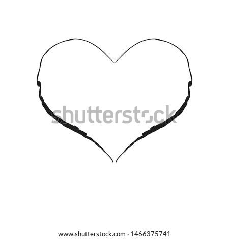 Hand drawn Love symbol. Hearth symbol. Hearth symbol with brush #1466375741