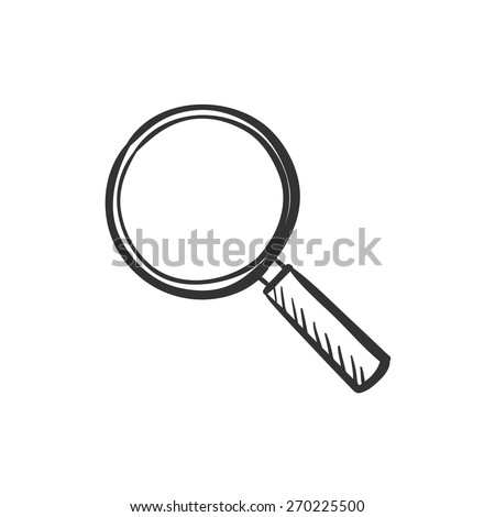 Hand drawn magnifier doodle search icon, excellent vector illustration, EPS 10