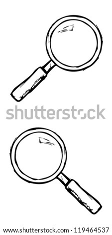 Hand drawn magnifier pattern