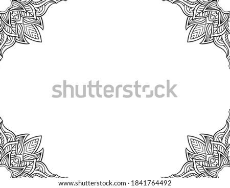hand drawn mandala frame