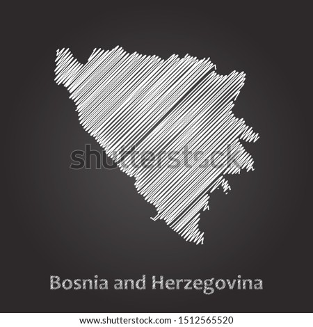 hand drawn map of bosnia and