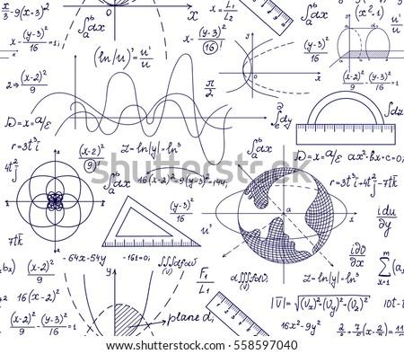 hand drawn mathematical vector