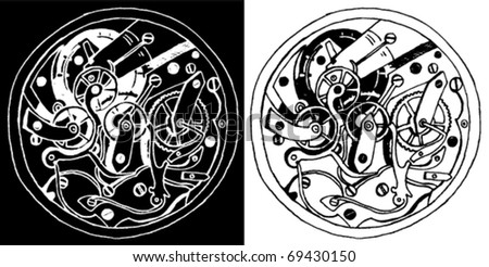 Hand Drawn Mechanism - stock vector
