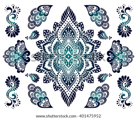 Indian Henna Art Vector Download Free Vector Art Stock Graphics