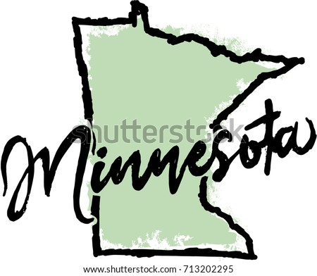 Hand Drawn Minnesota State Graphic