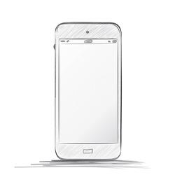 Hand drawn  Mobile Phone Vector illustration - White