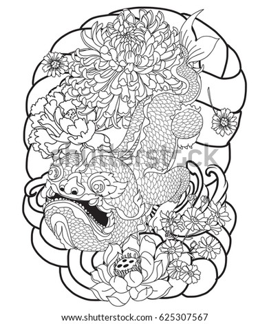 hand drawn monster of buddhism
