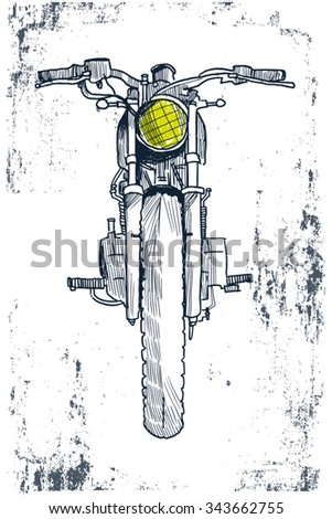 hand drawn motorcycle vector