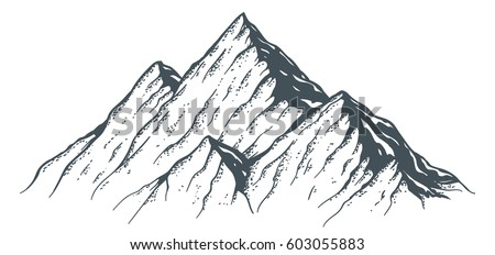 hand drawn mountain ridge