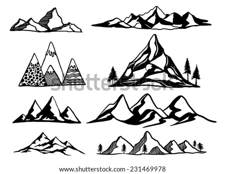 Line Drawing Vector Graphics : Free hand drawn travel vector background download art
