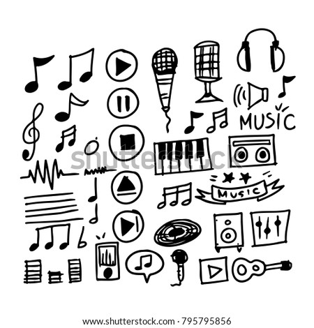 hand drawn music icon
