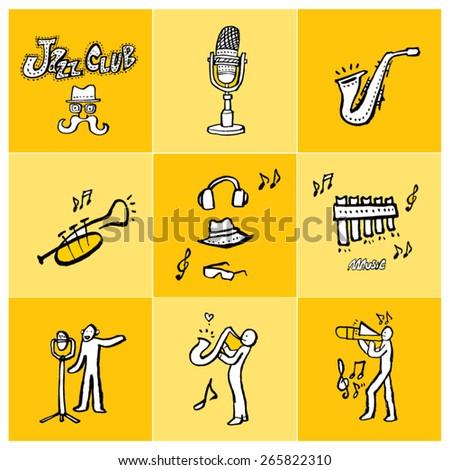 hand drawn music poster