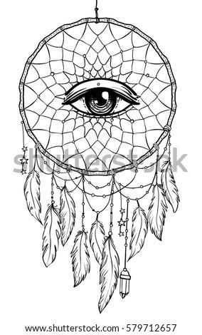 hand drawn native american