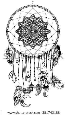 hand drawn native american