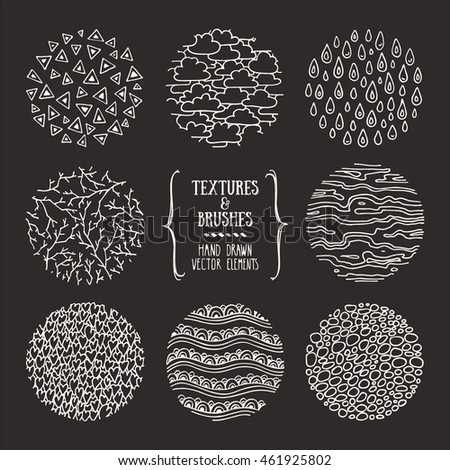 hand drawn natural textures