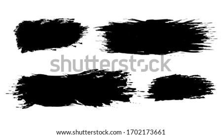 hand drawn of brush stroke for black ink paint. grunge backdrop, dirt banner, watercolor design and dirty texture. vector illustration