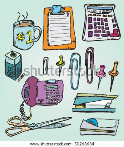 Hand Drawn Office Supplies