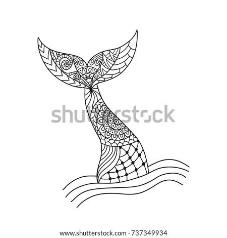 hand drawn ornamental mermaid's