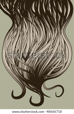 Hand Drawn ornate abstract beard background