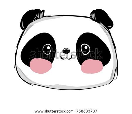 Hand Drawn Panda Bear Vector Illustration