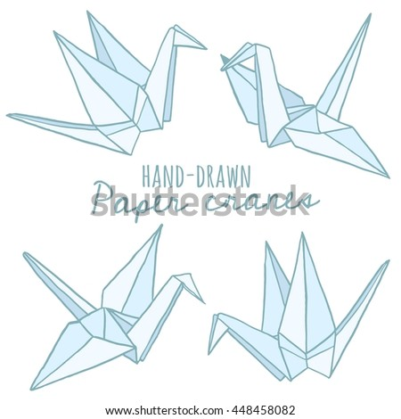 Origami Crane Free Vector Art 60 Free Downloads