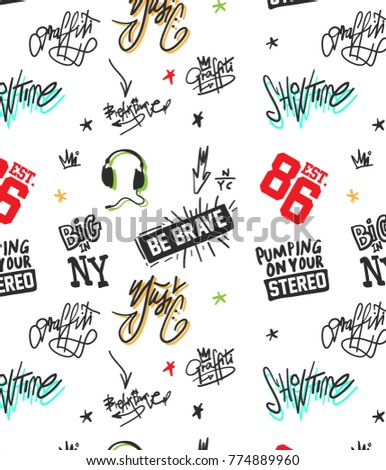 Hand drawn pattern and background design for printing, Graphic t shirt & Printed t shirt