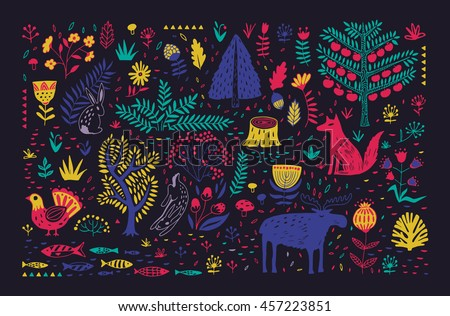 hand drawn pattern with