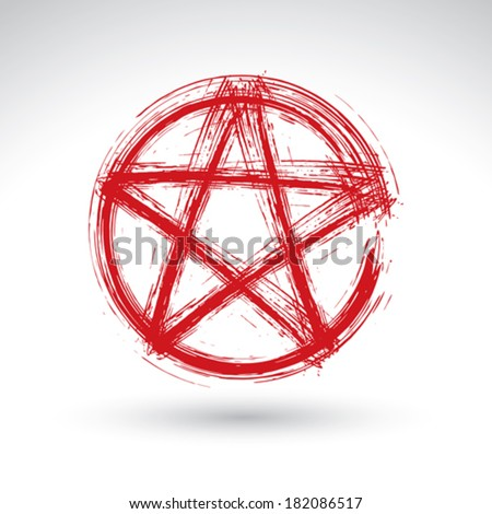 hand drawn pentagram icon