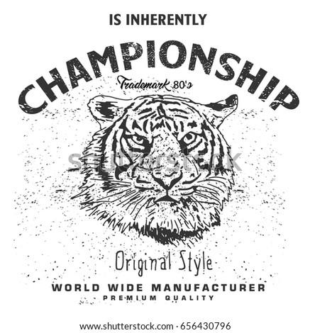 hand drawn portrait of tiger