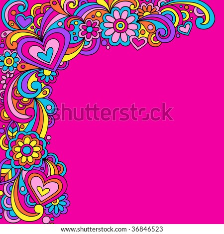 Hand-Drawn Psychedelic Abstract Groovy Vector Illustration
