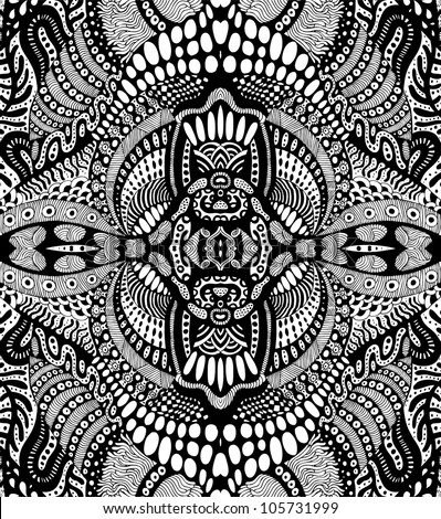 hand drawn psychedelic