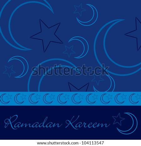 Hand drawn Ramadan Kareem (Generous Ramadan) greeting card in vector format.