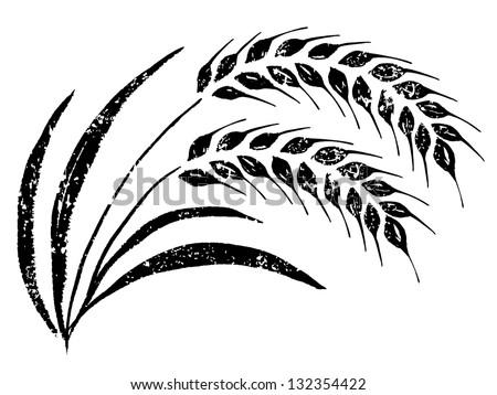 Hand-Drawn Rice Stock Vector Illustration 132354422 : Shutterstock