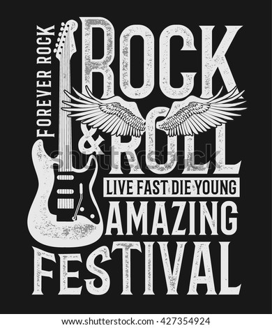 hand drawn rock festival poster