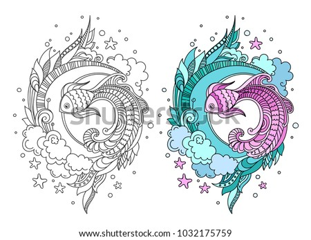 Seaweed color vector illustration - Download Free Vector Art, Stock ...