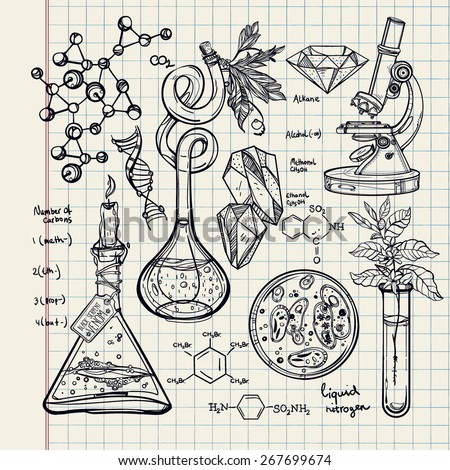 hand drawn science beautiful
