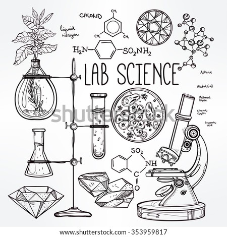 hand drawn science beautiful...