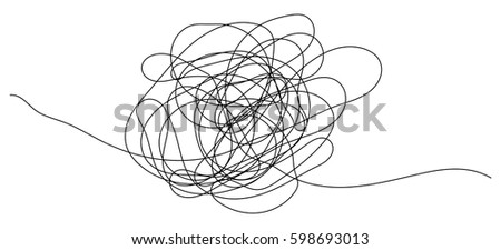 hand drawn scribble object with