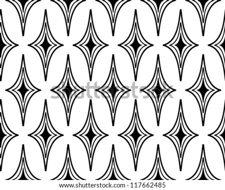 Hand drawn seamless geometric pattern, vector