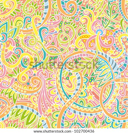 hand drawn seamless pattern with brazilian look.