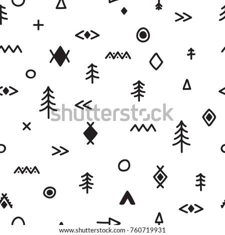 hand drawn seamless pattern...