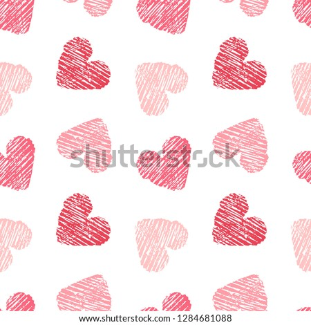 stock-vector-hand-drawn-seamless-pink-heart-pattern-valentines-day-vector-background
