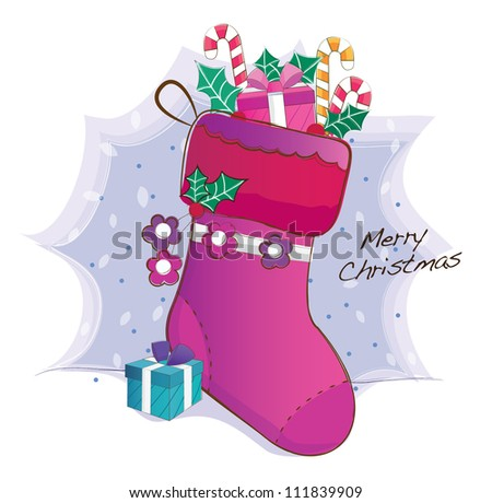 hand drawn series (christmas socks)